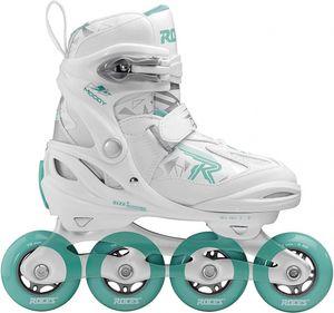Roces inline-Skates Moody Girl Mädchen weiss/mint Grösse 30-35