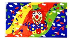 Rubie's karnevalsfahne mit Clown 100x150 cm