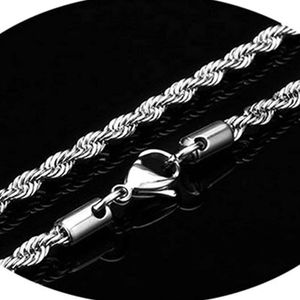 Mllaid Herrenkette ecklace Edelstahl Twisted Chain