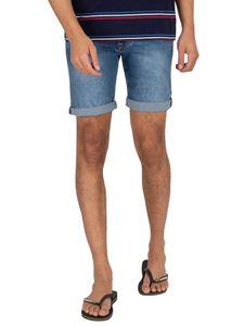 Pepe Jeans Herren Cane Denim Slim Shorts, Blau 32W