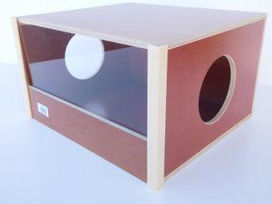 Elmato 12874 Sandbadehaus Panorama Buddelkiste Box abwaschbar, 39x34x21cm