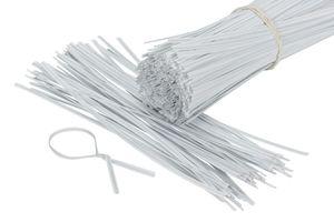500 Stück Twist Ties, Bindestreifen, Bindedraht, Kabelbinder 12cm weiss
