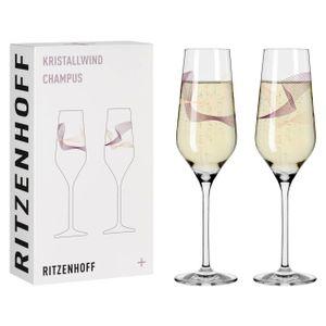 Ritzenhoff Champagnerglas Kristallwind Champagner 2er-Set 001