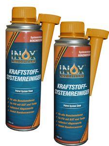 INOX® Kraftstoffsystem Reiniger, 2 x 250ml - Additiv für alle Benzinmotoren