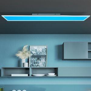 BRILLIANT ABIE LED Aufbaupaneel Deckenleuchte G90320/05 Metall Kunststoff Weiß mit Fernbedienung