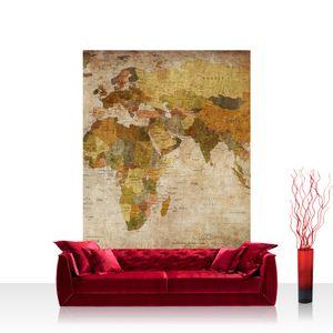 Textil Fototapete no. 0029 - 200X280 cm - Vintage Atlas Weltkarte Atlanten Karte alte Karte alter Atlas liwwing (R)