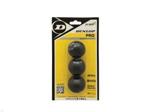 Dunlop Squashball Pro Spielball 3er Pack