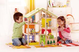 Hape Happy Family Vier-Jahreszeiten Haus (möbliert), E3401