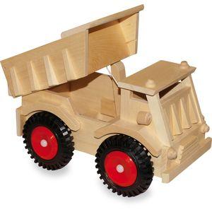 Small Foot 1087 LKW aus Holz, mit schwarzen Rädern, natur (1 Stück)
