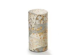 "Dose ""Kyoko"", 150g Weißblech, mit Aromaverschluß H 15,5 cm, Ø 7,5 cm"