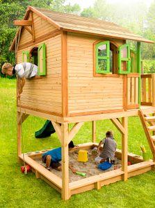 Kinderspielhaus Spielhaus Gartenhaus Spielhütte aus Holz für Kinder - (3376)