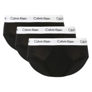 Calvin Klein Herren Slips Hip Brief 3er Pack BLACK L