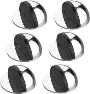 Türstopper Boden selbstklebend - 6er Set Tür Stopper Edelstahl-Optik - Türstopper kleben - Bodentürstopper selbstklebend - Effektiver Design Türstopper selbstklebend
