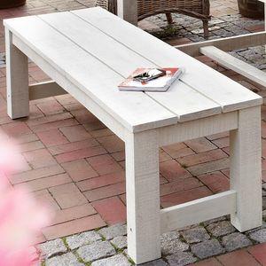 Gartenbank Gartenmöbel Sitzbank Sitzmöglichkeit Holzbank Lordi Bank ohne Lehne