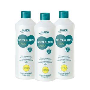 HAKA Neutralseife Liquid Citrus 3x1l Universalreiniger für Haushalt, Garten & Auto