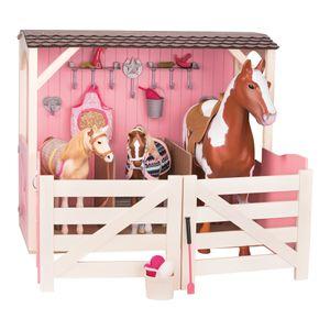 Our Generation - Pferdestall Holz rosa für Pferde und Puppe 46 cm - NEU