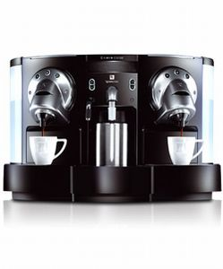 Nespresso CS 220 Gemini Espressomaschine, Nespresso Kapseln, Edelstahlgehäuse, 2410 Watt, 19 Bar, 6 l Füllmenge, Tassenwärmer, Milchaufschäumer