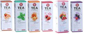 Teekanne Tealounge Kapseln Teekapsel 6 Sorten (96 Kapseln) - 6 x 16 Stück - Früchtetee Sortiment