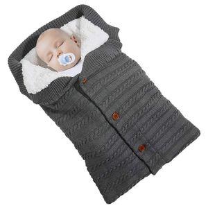 Baby Decke Schlafsack Einschlagdecke Wickeldecke Baby Swaddle Sleeping Bag,dunkelgrau