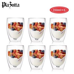 Doppelwandige Thermo Gläser 2er bis 6er Set Latte Macchiato Cocktail Kaffee Tee 6 x 350ml