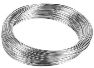 10m Meter Basteldraht 2mm, Schmuckdraht Aludraht Dekodraht Aluminiumdraht rostfreier Draht in Silber