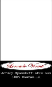 Spannbettlaken 100% Baumwolle Jersey 120x200 cm - 130x200 cm weiß