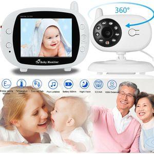 Babyphone mit Kamera.Video Baby Monitor Gegensprechfunktion Digital kabellose Überwachungskamera ( Schlafmodus, Nachtsicht, Temperatursensor)