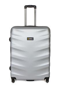 National Geographic Spinner Koffer, 4 Rollen, Zahlenschloss Zoll, Arete Trolley Größe L 76 cm Silver