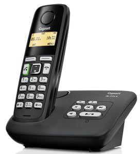Gigaset DECT Telefon mit Anrufbeantworter AL225A; schwarz