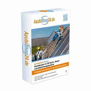 AzubiShop24.de .Lernkarten Dachdecker/-in FR Dach-, Wand und Abdichtungstechnik