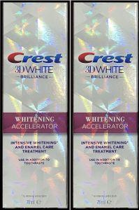 Crest 3D White Brilliance Whitening Accelerator Intensiv Zahnweiss  2 x 75ml