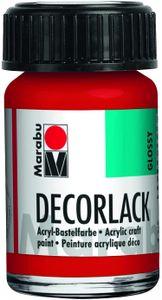 "Marabu Acryllack ""Decorlack"" geranienrot 15 ml im Glas"