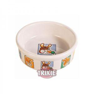 Trixie Keramiknapf Motiv Zwergkaninchen weiß 240 ml / ø 11 cm