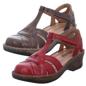 Josef Seibel Damen Sandalen Sandaletten Leder Catalonia 62 56562-61, Größe:39 EU, Farbe:Rot