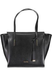 Calvin Klein Damen Handtasche, Schultertasche, Tragetasche, schwarz, Größe:UNIQUE, Farbe:Black
