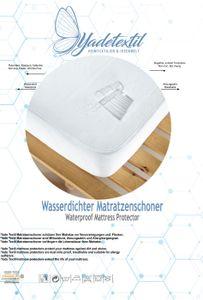Wasserdichter Matratzenschutz Rundumgummi Steghöhe bis zu 30 cm. 180 x 200 cm