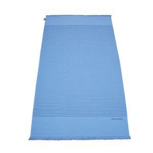 Schiesser Hamamtuch / Strandtuch / Badetuch Rom mit Fransen 100 x 180 cm, 100% Baumwolle, Farbe:hellblau, Größe:100 cm x 180 cm