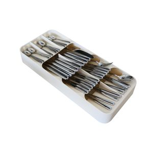 Küchenschublade Organizer Weiss mit 9 Fächer Schubladenbesteck Aufbewahrungsbox Küche