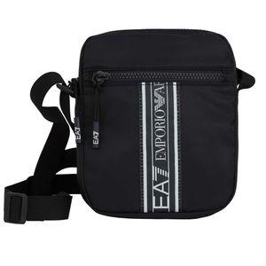Emporio Armani EA7 Herren Umhängetasche Schultertaschen Handbag 21 x18 x 4 cm Schwarz