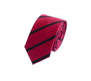Schlips Krawatte Krawatten Binder 6cm rot schwarz gestreift Fabio Farini