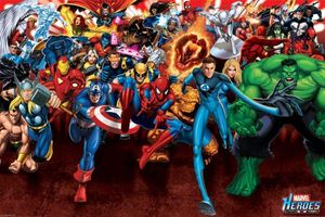Pyramid Marvel Heroes Attack Poster 91.5x61cm.