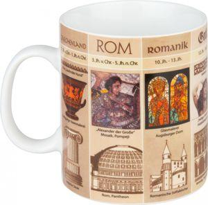 Könitz Porzellan Wissensbecher Kunstgeschichte Kaffeebecher Tee Tasse