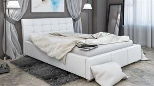 Polsterbett Bett Doppelbett PINO 200x200cm inkl.Bettkasten
