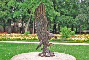 Dekofigur bronziert - Adler Wings of Glory - Bronzefigur Figur Deko In-/Outdoor