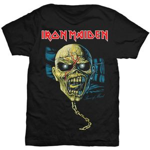 Iron Maiden Piece of Mind Skull Blk T Shirt: Medium