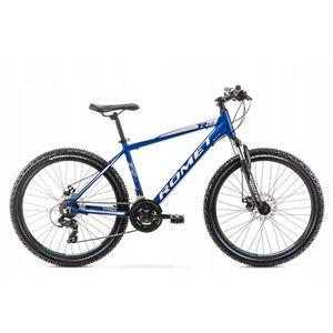 26 Zoll Romet Mountainbike 21-Gang Kettenschaltung, Alurahmen, Blau, hydraulische Scheibenbremsen