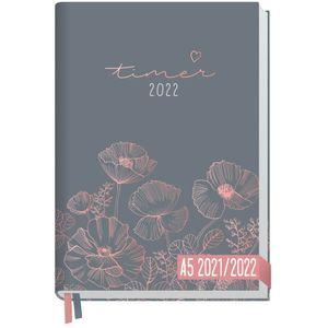 Chäff-Timer Classic 2021/2022 Poppy / A5 / 18 Monate