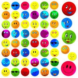 Oblique Unique 480 Smiley Sticker Aufkleber Face Lächeln Frech Positiv - bunt