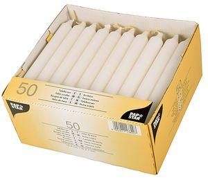 PAPSTAR Tafelkerzen 21 mm weiß 50er Pack