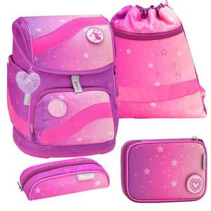Belmil Schulranzen Set 4-tlg Smarty Grundschule Einschulung Mädchen pink lila